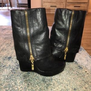 Gorgeous Steven by Steve Madden leather booties
