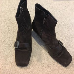 Aerosoles Brown Suede & Leather Boots