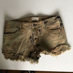 Free People bleached shorts