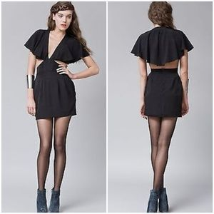 Finders keepers black cape dress