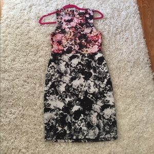 Topshop fitted floral dress size 4