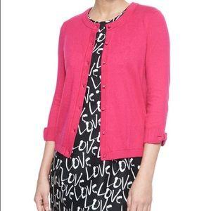 Kate Spade Somerset Bow sleeve pink cardigan