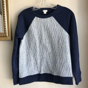 J. Crew Wool Cable Front Pullover Sweater