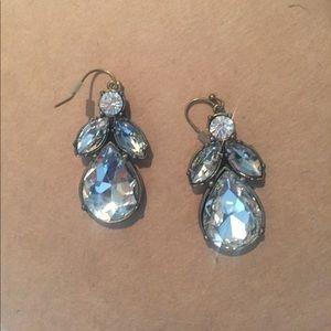 J.crew cluster teardrop earrings.