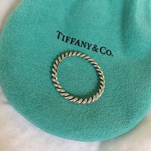Tiffany & Co Sterling Silver Twisted Ring, Size 9