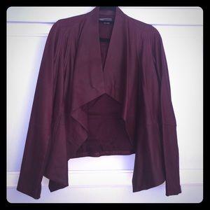 Vince drape neck leather jacket size s