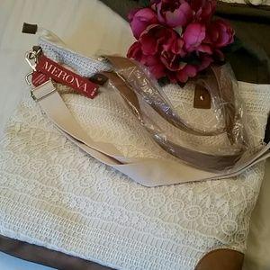 Merona lace crossbody weekend bag