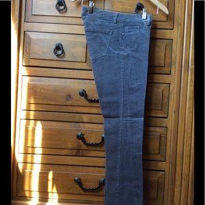 Size 2 - steel gray corduroy pants