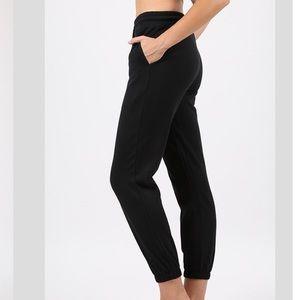 Pants - Black Jogger Sweat Pants Woman's S M L XL