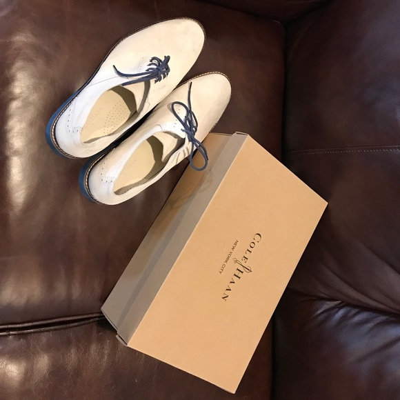 3c036592dcf Cole Haan Other - Cole Haan NYC White Suede Shoes