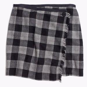 Madewell Plaid Wrap Skirt (sz 2)