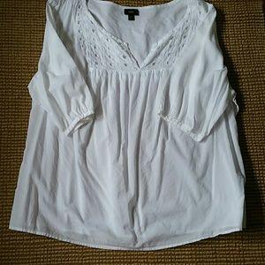 Mossimo 3/4 sleeve cotton tunic plus 2