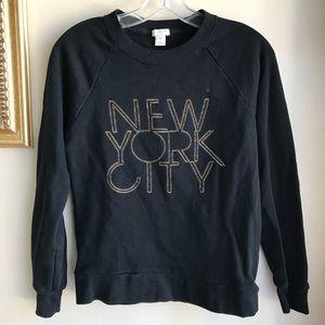 J. Crew Black New York City Pullover