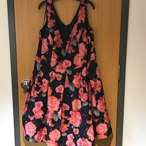 City Chic floral fit & flare dress