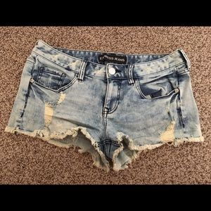 SALE Express ripped jean shorts