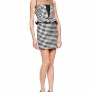 Red Valentino Gingham Vichy peplum dress