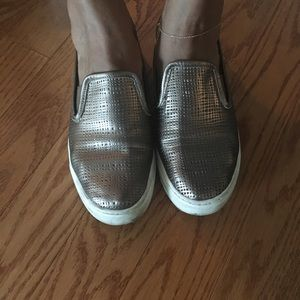 Vince Camuto Gold Mesh Sneakers