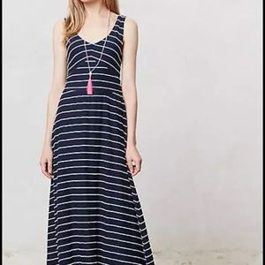 Anthropologie puella striped maxi dress xxsp