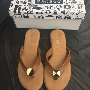 Bamboo sandals Never worn.
