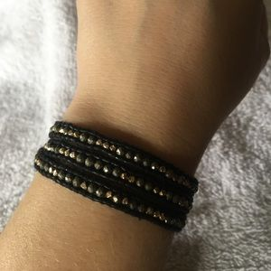 Authentic Chan Luu pyrite & gold nugget 3 Wrap