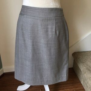 J. Crew Wool A-line Gray Suit Skirt