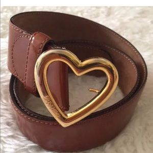 RARE Vintage Moschino heart shaped belt
