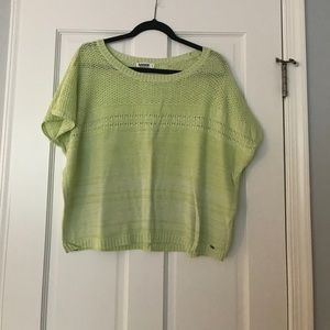 Pale green sweater top