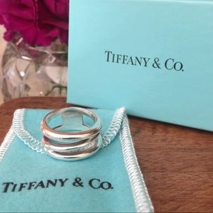 Tiffany & Co Sterling Silver Triple Wave Ring