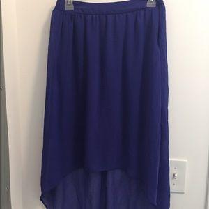 Royal Blue High- Low Skirt