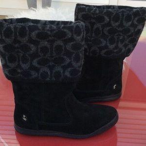 Coaches Tatum black suede boots