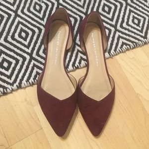 Maroon Pointed Flats