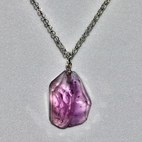 76 off jewelry stylish amethyst pendant necklace from m59e3cc5036d594655c083a52 mozeypictures Images
