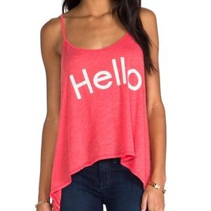 WILDFOX Hello Swim Cover-Up Tank Size S