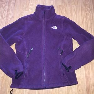 NORTH FACE purple fleece zipup jacket ladies XS