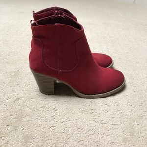 Red Suede Old Navy Boots