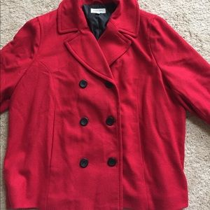 Awesome Merona RED peacoat, size medium-large.
