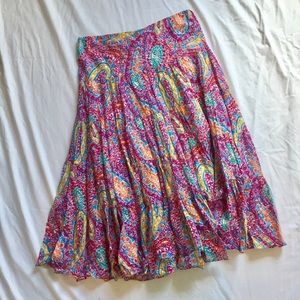 Colorful Ralph Lauren Tiered Peasant Skirt