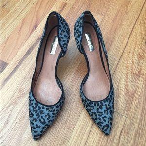 Halogen leopard print pumps