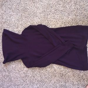 French Connection Deep purple cowl neck sweater