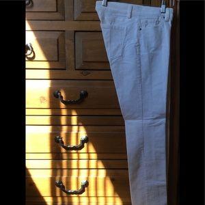 Size 2 - ivory straight leg corduroy pants