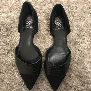Vince Camuto black pointed toe flats