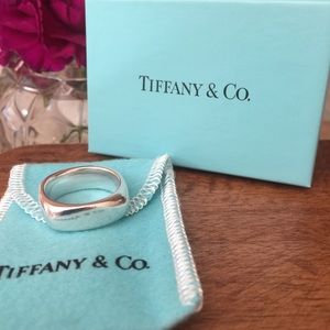 Tiffany & Co Sterling Silver Cushion Square Ring