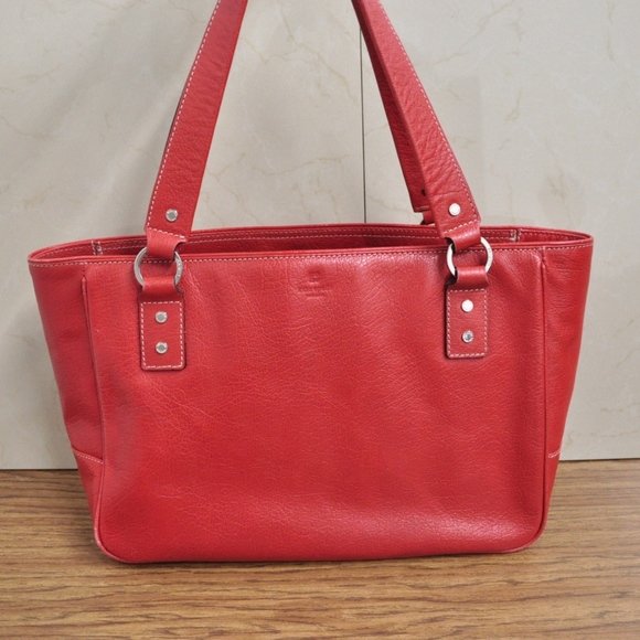 90b86f33a52 kate spade Bags   Red Leather Tote Bag Shopper Shoulder B   Poshmark
