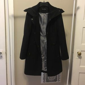 Calvin Klein belted wool trench coat