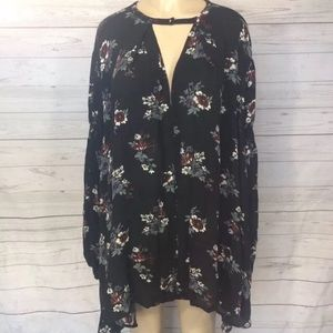 Floral retro swing mini boho festival dress rare