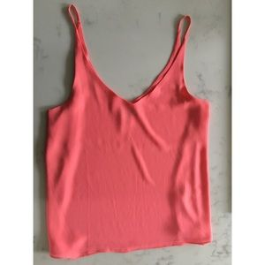 Top Shop chiffon top in bright pink