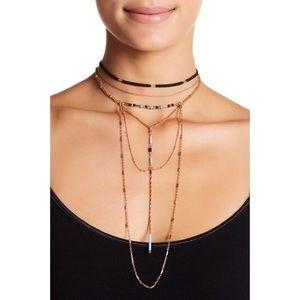 Multi layered Choker necklace