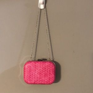 NWOT Style&Co pink clutch with chain