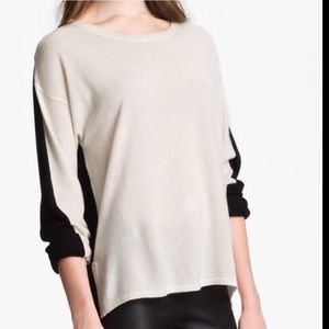 VINCE 100% Cashmere Two-tone Sweater