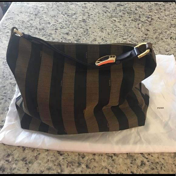 565eca20ca Fendi Handbags - Fendi Pequin stripe large hobo bag